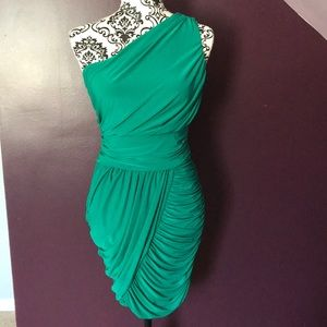 Soprano Emerald Green Stunning One shoulder Dress